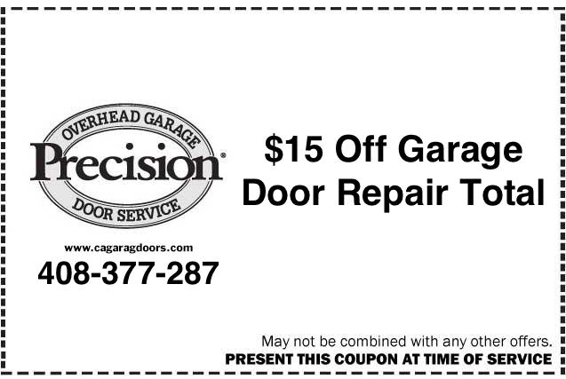 garage door repair by precision garage door of san jose
